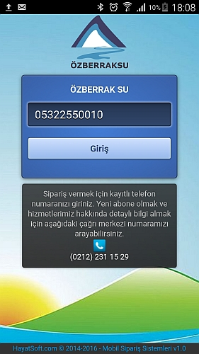 Online Su Siparişi - Android Uygulaması