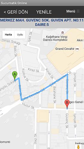 sucumatik - Google Map Yol Haritası